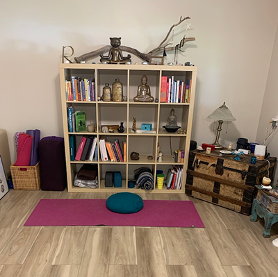 Image of home yoga space